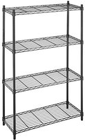 Whitmor 6070-322 Supreme 4-Tier Shelving Unit, Black
