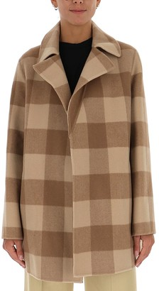 Theory Double-Faced Check Overlay Coat