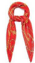 Balenciaga Chain pleated silk scarf