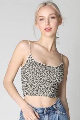 Nikibiki Leopard Cross-Back Crop