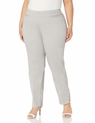 Slim Sation SLIM-SATION Women's Plus Size Wide Band Pull-On Solid Ankle Pant