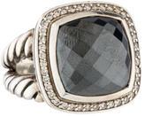 David Yurman Hematite & Diamond Albion Ring
