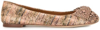Tory Burch Crystal Bow Ballet Shoes