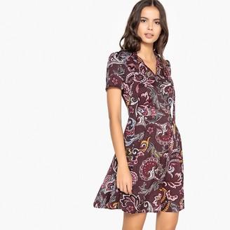 La Redoute Collections Tie-Neck Paisley Print Skater Dress