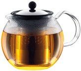 Bodum ASSAM Tea Press , Permanent Filter, Glass Handle, 1.0 L/34 oz) - Shiny