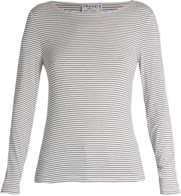 Frame Micro striped jersey T-shirt