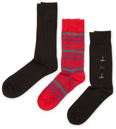 Solid and Print Socks (3 PK)