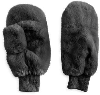 Lauren Conrad Women's Faux Fur Mittens