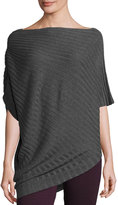 Max Studio Rib-Knit Kimono Sweater, Heather Gray