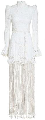 Zimmermann Wavelength Fringed Gown