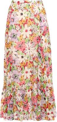 By Ti Mo Floral-print Fil Coupe Midi Skirt