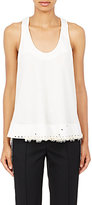 Paco Rabanne Women's Embellished Cutaway Top-IVORY