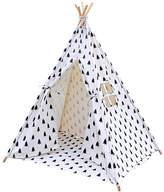 5 Poles Teepee Tent w/ Storage Bag Black White