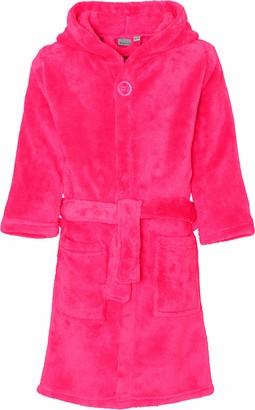 Playshoes Girl's Fleece-Bademantel uni Bathrobe