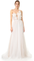 Marchesa Heather Hand Draped Tulle Gown