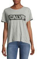 Calvin Klein Jeans Embellished Drop-Shoulder Tee