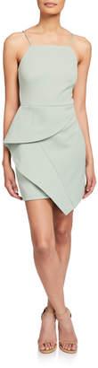Elliatt Affagato Sleeveless Asymmetric Drape Mini Dress