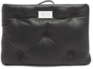 Maison Margiela Glam Slam Quilted-leather Clutch Bag - Black