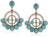 m. haskell Purple by Riviera Turquoise Faceted Bead Circle Drop Earrings