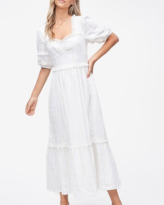 Express Emory Park Sweetheart Neck Maxi Dress