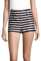 RED Valentino Buttoned Cotton Shorts