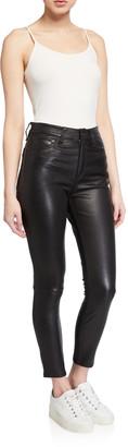 Rag & Bone Nina Leather High-Rise Pants