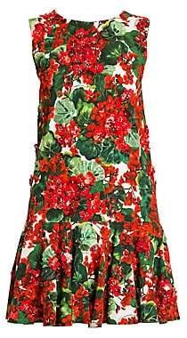 Dolce & Gabbana Women's Sleeveless Floral A-Line Dress