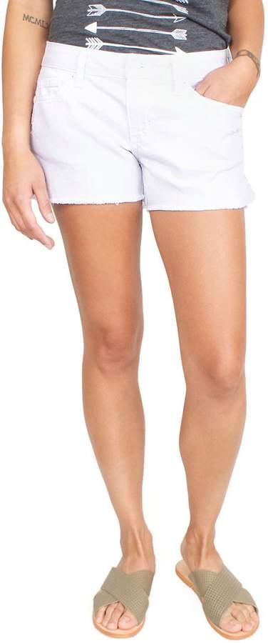 Level 99 White Cut-Off Shorts