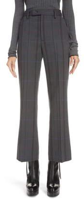 Acne Studios Patsyne Plaid Wool Blend Suit Trousers