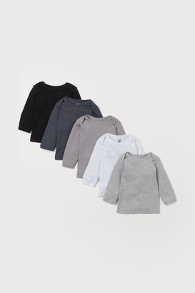 H&M 5-pack Jersey Shirts - Black