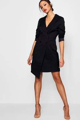 boohoo Tall Wrap Asymmetric Blazer Dress