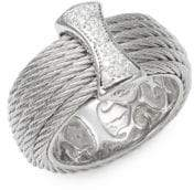 Alor Cable 18K White Gold Band Ring