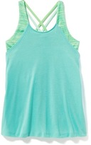 Old Navy Go-Dry Cool 2-in-1 Performance Tank for Girls