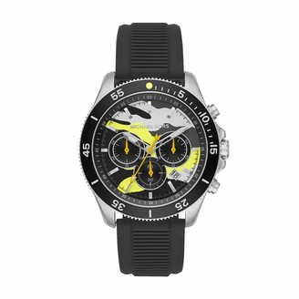 Michael Kors Men's Sport Stainless Steel Quartz Watch with Silicone Strap