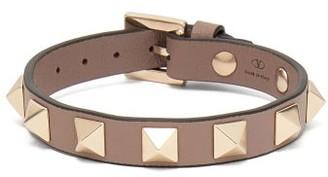 Valentino Rockstud Leather Bracelet - Grey