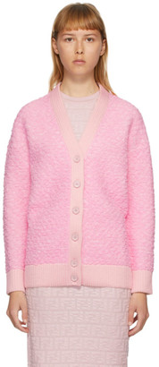 Fendi Pink Gaufre Cardigan