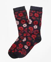 Brooks Brothers Floral Crew Socks
