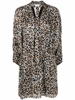 Thumbnail for your product : Lala Berlin Darleen leopard-print satin dress