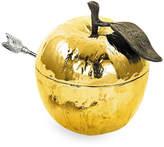 Michael Aram Gold Plated Apple Honey Pot