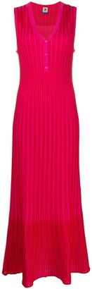 M Missoni Striped Ribbed-Knit Dress