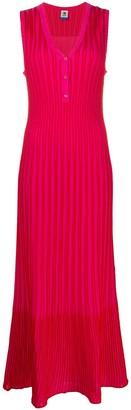 M Missoni Striped Ribbed-Knit Dress