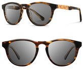 Shwood Men's 'Francis' 49Mm Polarized Sunglasses - Tortoise Shell/ Maple/ Grey