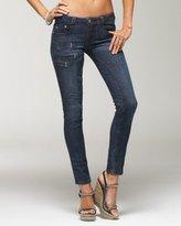 Zig Zag Stitched Skinny Jean
