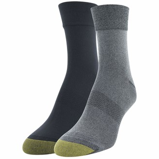 Gold Toe Women's Little Black Diamond Short Crew Socks 2 Pairs Shoe Size: 6-9