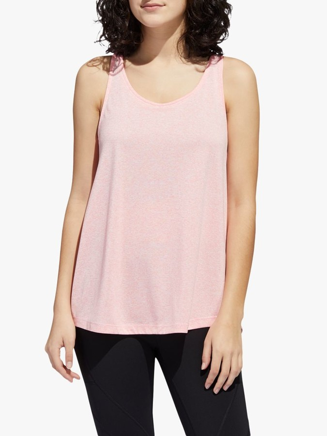adidas Tunic Training Vest, Signal Pink/White