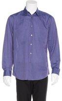 John Varvatos Woven Pick-Stitch Shirt