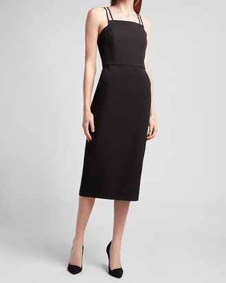 Express Double Strap Square Neck Sheath Dress