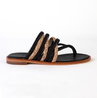 Allan K - Jackie Sandal - 37   leather   Black & Beige