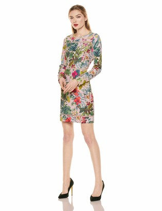 Laundry by Shelli Segal Women's Long Sleeve Floral Day Dress