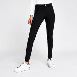 River Island Womens Black skinny Molly jeggings